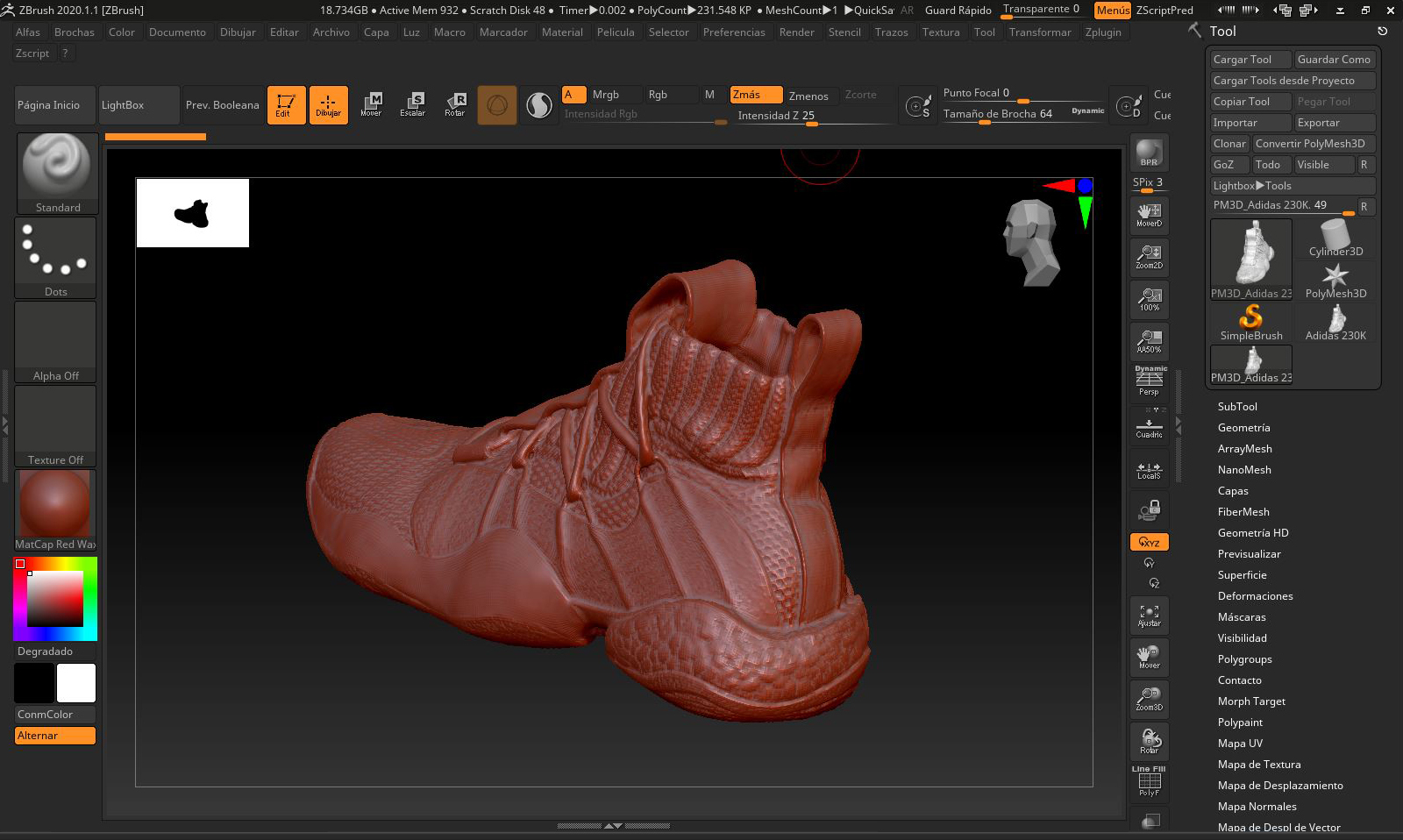 Z-Brush - 3D modelling software and the latest advances in rendering engines, which allow for greater complexity in 3D images.