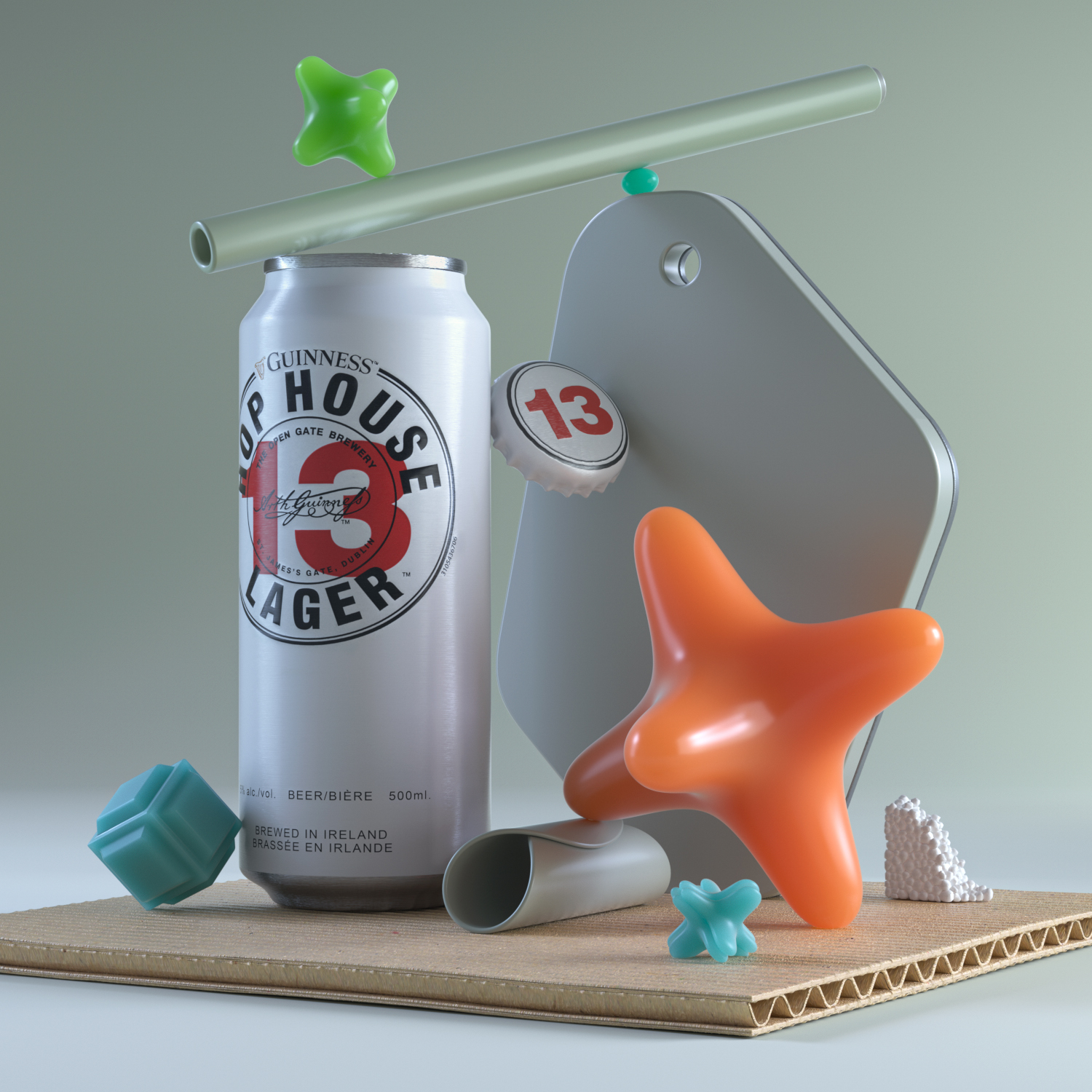 Rendering of a 3d model from a Still-Life-3D-Render