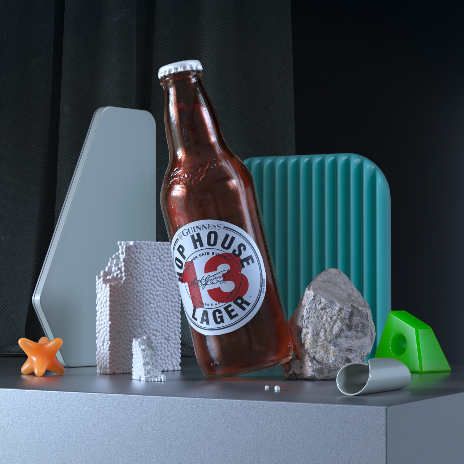 Still-Life 3D. Dissonance and curiosity with this set of incoherent elements that grabs your attention